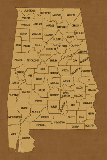 Alabama Hunting Lease Map